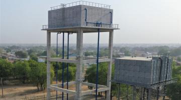Project reservoir in Afrika